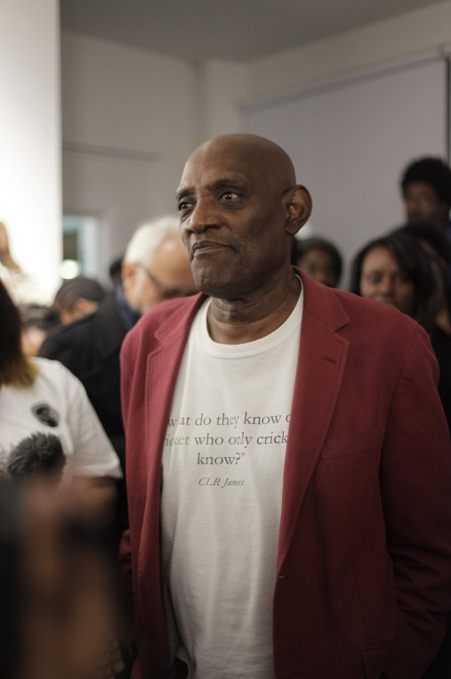 dh-Former British Black Panther Darcus Howe giving a speech