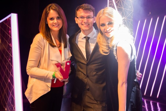 Katie Llewellyn-Cripps (RBS), Stephen Sutton (winner, overall commitment to volunteering), Pixie Lott
