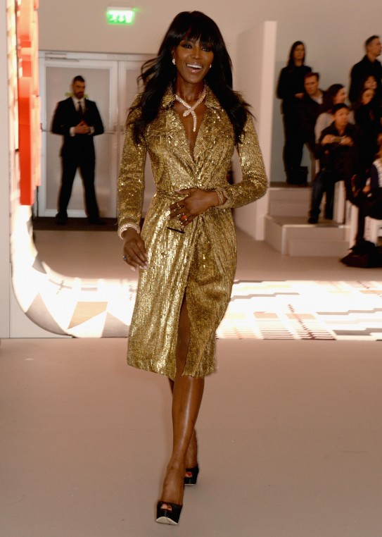 Naomi Campbell walks the runway at the Fashion For Relief charity fashion show to kick off London Fashion Week Fall/Winter 2015/16 at Somerset House on February 19, 2015 in London, England. The Fashion For Relief show is in support of Ebola, raising funds and awareness for Disaster Emergency Committee: Ebola Crisis Appeal and the Ebola Survival Fund.