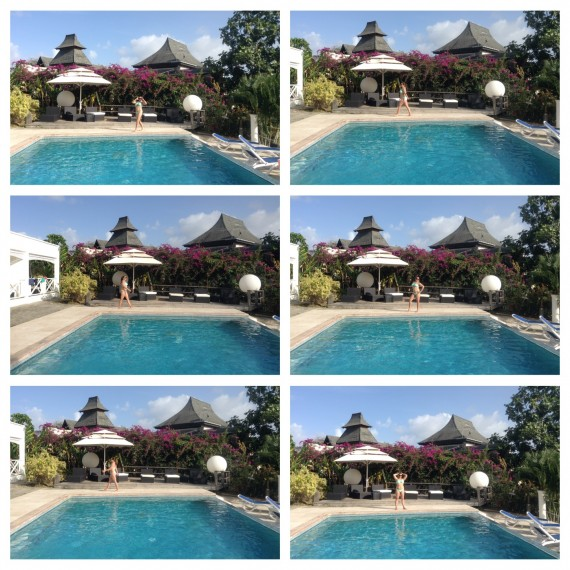 bacolet pool poses